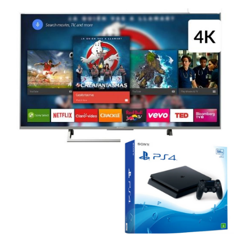 "[INN03111] Combo Pantalla 55"" Sony XBR-55X805E/S 4K UDH Smart TV + Consola Sony PlayStation 4 Slim 500GB"