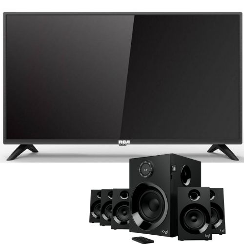 "[INN03353] Combo Pantalla 32"" RCA Smart TV 3D RC32A21BT3D + Sistema de Altavoces Logitech Z607 para PC"