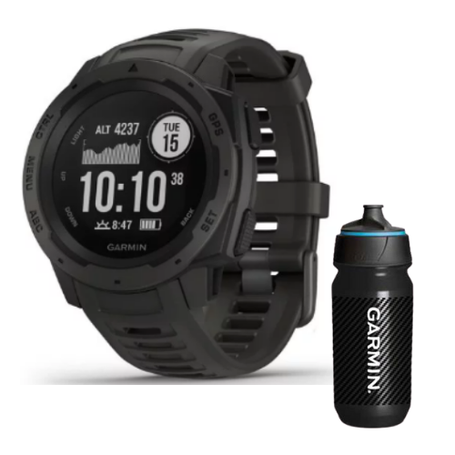 [INN03407] Combo SmartWatch Garmin Instinct + Botella Garmin Carbon 500 ML