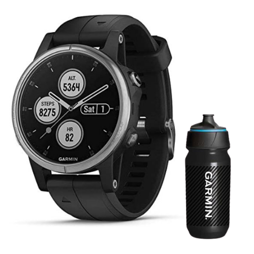 [INN03431] Combo SmartWatch Garmin Fénix 5S Plus Gris con Negro + Botella Garmin Carbon 500 ML