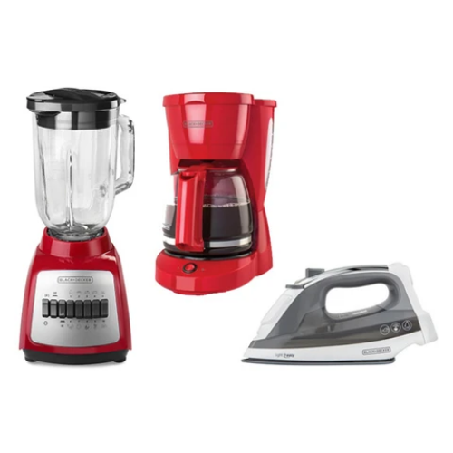 [INN03975] Combo Black&Decker Plancha + Licuadora + Coffee Maker CBBD1727