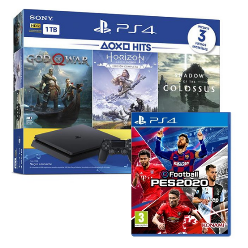 [INN0721] Combo Consola Sony PlayStation 4 Buendle Hit 4 + Juego Pes 20 20