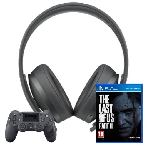 [INN01480] Combo Juego Sony The Last Of Us Part II + Control DualShock4 PS4 + Headset Sony Gold Wireless PS4