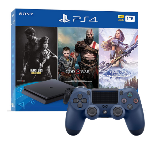 [INN0735] Combo Consola Bundle The Last Of Us + God of War Game + Horizon Zero Dawn + Control PS4